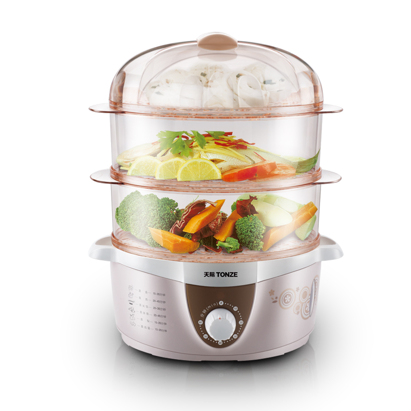 Free shipping The timing of the three layer 4L crabs Electric Food Steamers(China (Mainland))