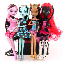 4PCS Free shipping New style 11inch 4pcs/1lot monster inc high doll monster hight christmas gift Wholesale fashion dolls(China (Mainland))