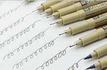 9 шт. из сакура Pigma микрон тонкая грань ручка 005 01 02 03 04 05 08 10 прошитой-br художественные принадлежности комплект