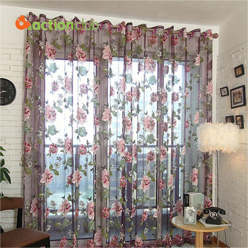 1 2 7m curtains for bedroom embroidered window screening for M s living room curtains
