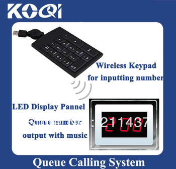 Wireless Clinic Queue calling system of Wireless keyboard and Display Receiver showing queue number Freeshippng by EMS/DHL