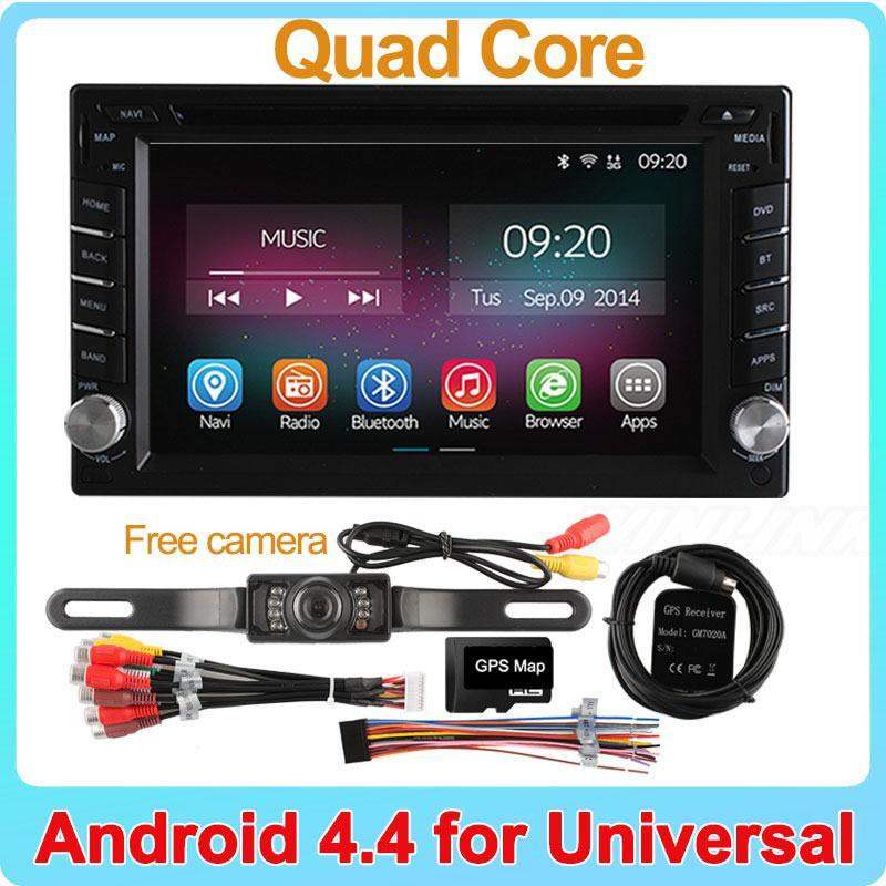 Pure Android 4.4.2 Quad Core 1.8GHz CPU Universal 2 Din Car DVD Player GPS Navigation Radio PC Video Player Support OBD TPMS 3G(China (Mainland))