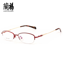 female glasses frames for women half oval frame eyeglasses eyeware optical lunette femme flexible spectacle prescription1106