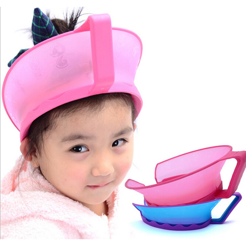 new adjustable baby shower cap protect shampoo kids bath visor hat