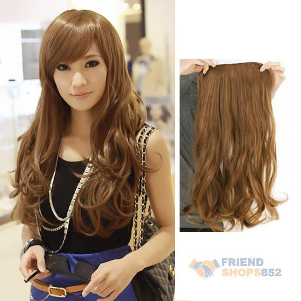 Гаджет  #F9s Width 25cm Lady Sexy Long Curl Wavy Clip-on Hair Extension Flax Yellow None Волосы и аксессуары