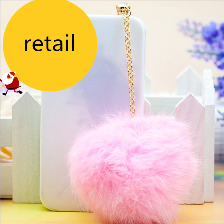 1pcs retail fox fur diamod 3.5mm universal earphone Dust plug for iphone ipad samsung cell phone Dustproof plug(China (Mainland))