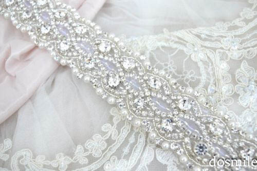 2017 High Quality New Handmade Dazzling Glass Crystals Rhinestones Pearls Beaded Bridal Belt Wedding Waistband Sashes
