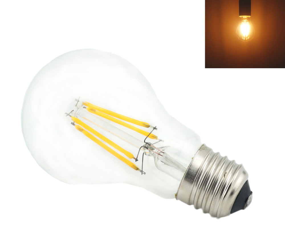 4 Watts A19 A60 Led Filament Led Bulbs 120vac E26 E27 Medium Base Household Led Light Bulb