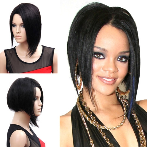 Fashion Wig Pelucas Pelo Corto Synthetic Wigs For Black Women 35cm Black Short Wig<br><br>Aliexpress