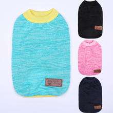 Pure Color Excellent Quality Shirt Lapel Costume Dog Clothes British Style T shirt Autumn Spring Clothing