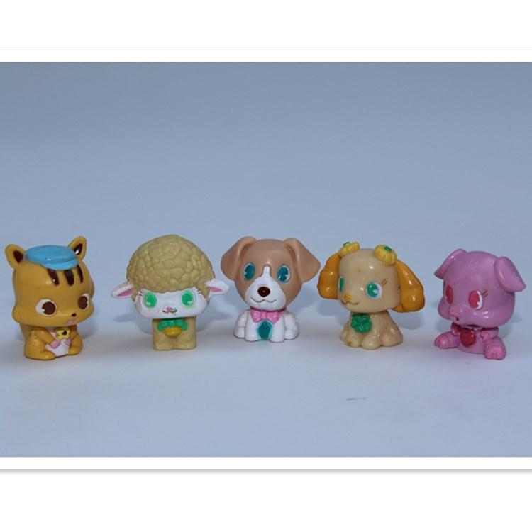 100pcs/lot cartoon diamond mini animals 2CM, fine capsule animal toy doll for children, Cartoon animiation ornaments(China (Mainland))