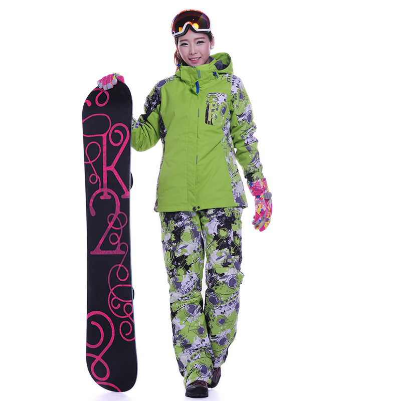 Dropshipping ski Suit new hot in Russian Warm Snowboard Snow Waterproof Jacket -30 Degrees winter ski jacket and pants women