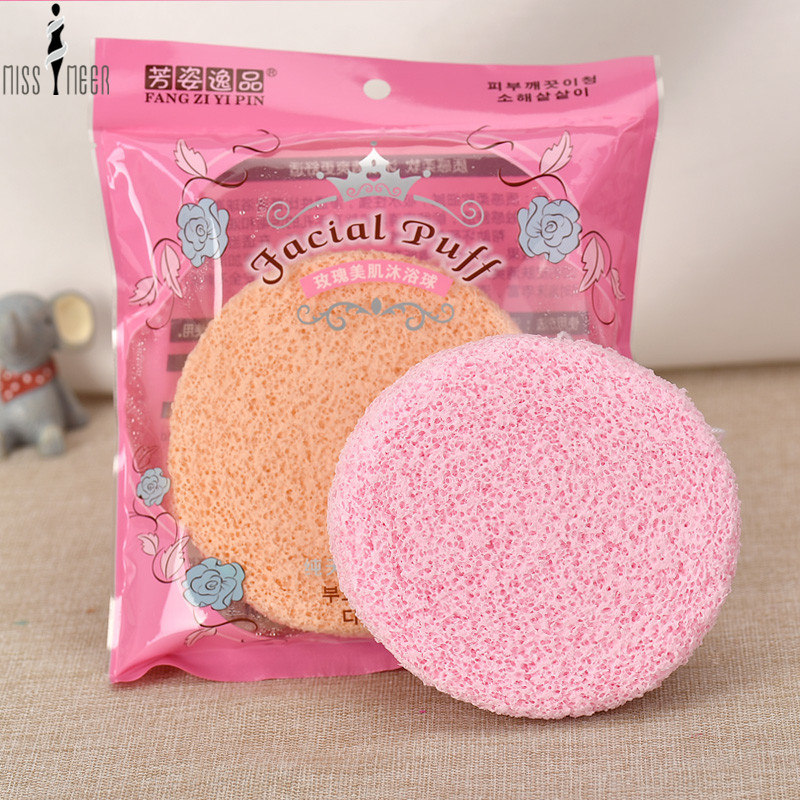 Professional 2 Colors Cleansing Bath Scrubber Shower Spa Sponge Body Cleaning Scrub Personal Care Bath Sponge(China (Mainland))