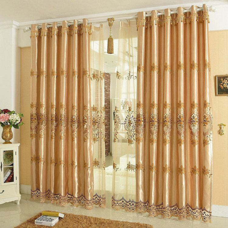 New arrival luxury window curtain for living room bedrooms for Hotel drapes for sale