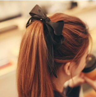 2015 latest cute hair accessories multicolor silk tassel double oversized bow tie hair hair ring hair rope Tousheng A230 Brazil(China (Mainland))