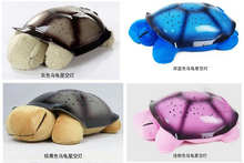 Hot Sales 1 Piece Cute Turtle Plush Doll Creative Musical Starry orPower Supply Turtle Doll Great Baby Sleep Toys Kawaii Plush(China (Mainland))
