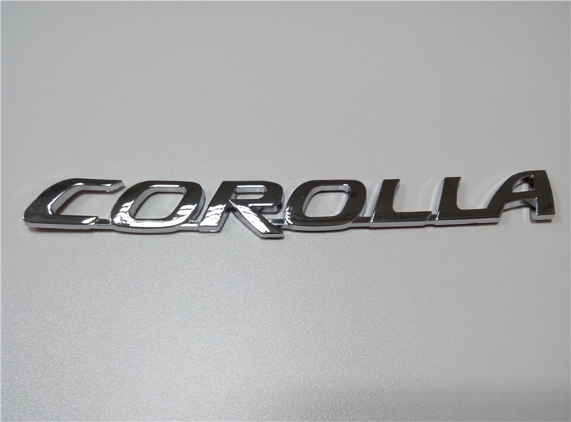Car Emblem For Toyota Corolla Chrome car 3D stickers Auto logo Tail Standard Letter Badge<br><br>Aliexpress