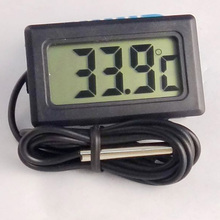 BLACK LCD ELECTRONIC FISH TANK WATER DETECTOR THERMOMETER AQUARIUM DIGITAL THERMOGRAPH  #SZ01049