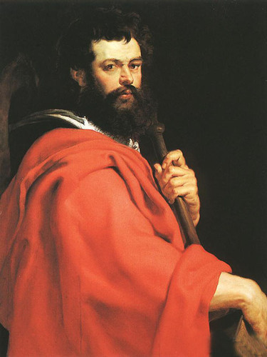 Oil painting Peter Paul Rubens - Male portrait St James the Apostle on canvas(China (Mainland))