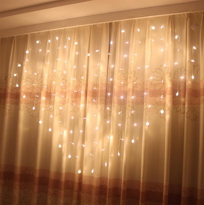 led christmas strings heart shape 2*1.5m, Decoration for wedding holiday 220V 128LEDs, gift for lover(China (Mainland))