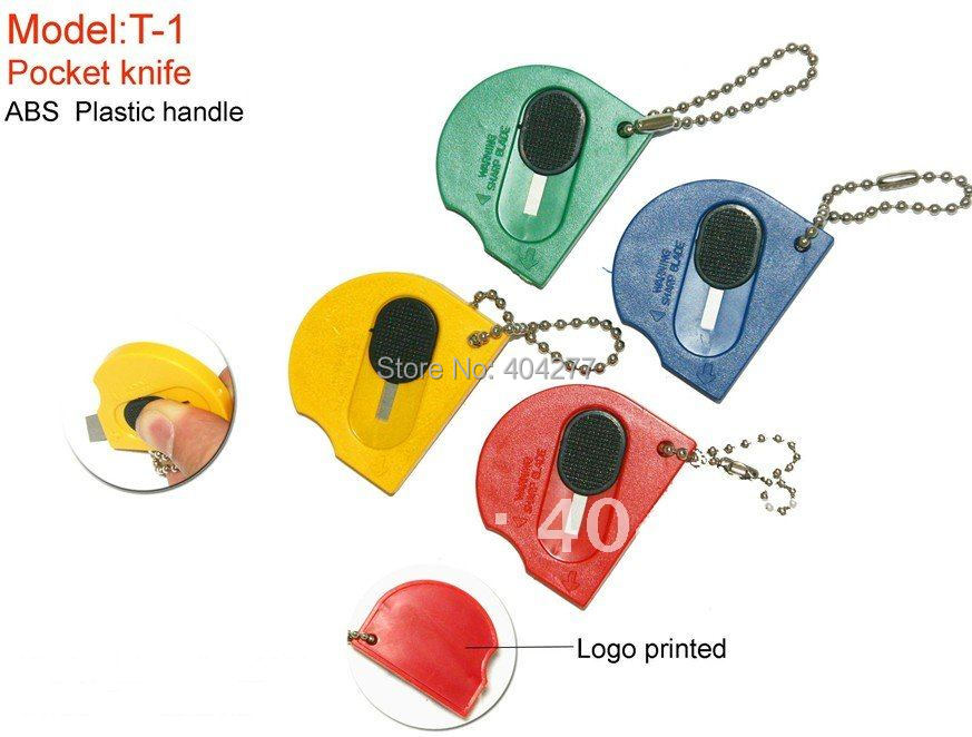High Quality Mini Retractable Utility Cutter Pocket Portable Knife Key Chain Key Ring Carton Package Knives(China (Mainland))