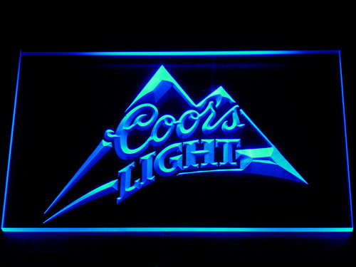 004 Coors Light Beer Bar Pub Logo LED Neon Sign with On/Off Switch 7 Colors to choose(China (Mainland))