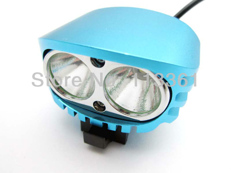 2x Cree XM-L XML U2 LED 4000 Lumens Blue 4 Mode Bicycle Light Cycle Bike Lamp HeadLamp Headlight Flashlight Full Set(China (Mainland))
