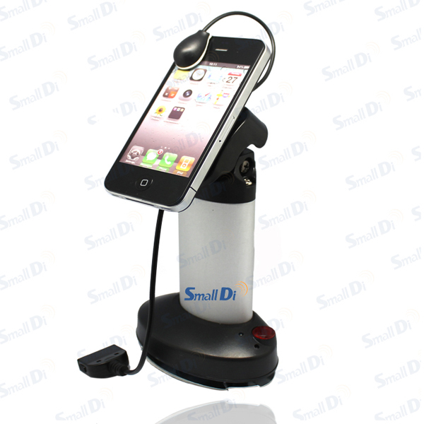 Mobile cell phone burglar security anti-theft display stand shelf holder, charge/ alarm function/ adjustable head/ aluminum(China (Mainland))