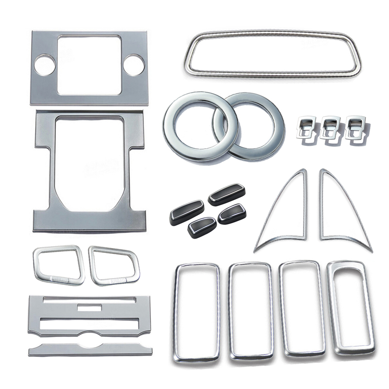 Matte Chrome Interior accesory KIts speaker air outlet Cover trims 22pcs For Land Rover 4/ LR4 2015 2014(China (Mainland))