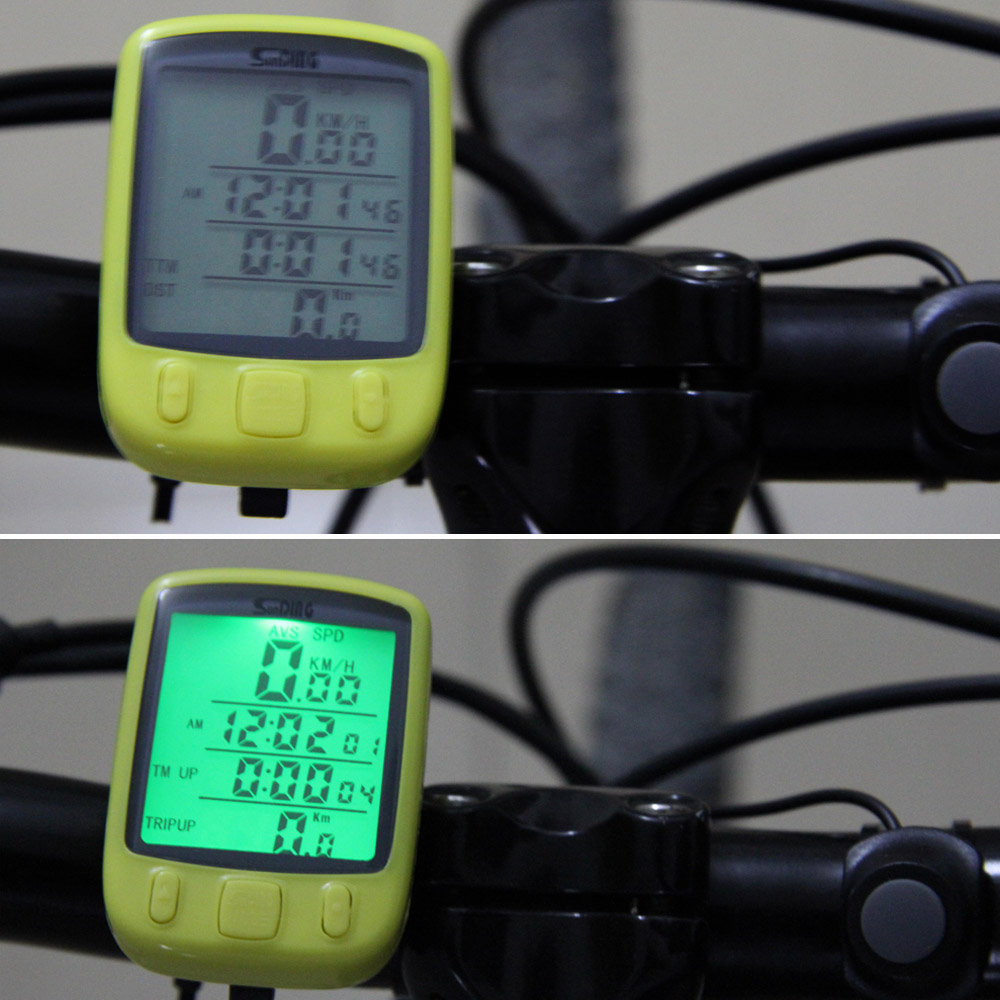 Bicycle Computer Odometer Bike Speedometer LCD Backlight Backlit Waterproof Multifunction Bicycle Odometer 3 Colors(China (Mainland))