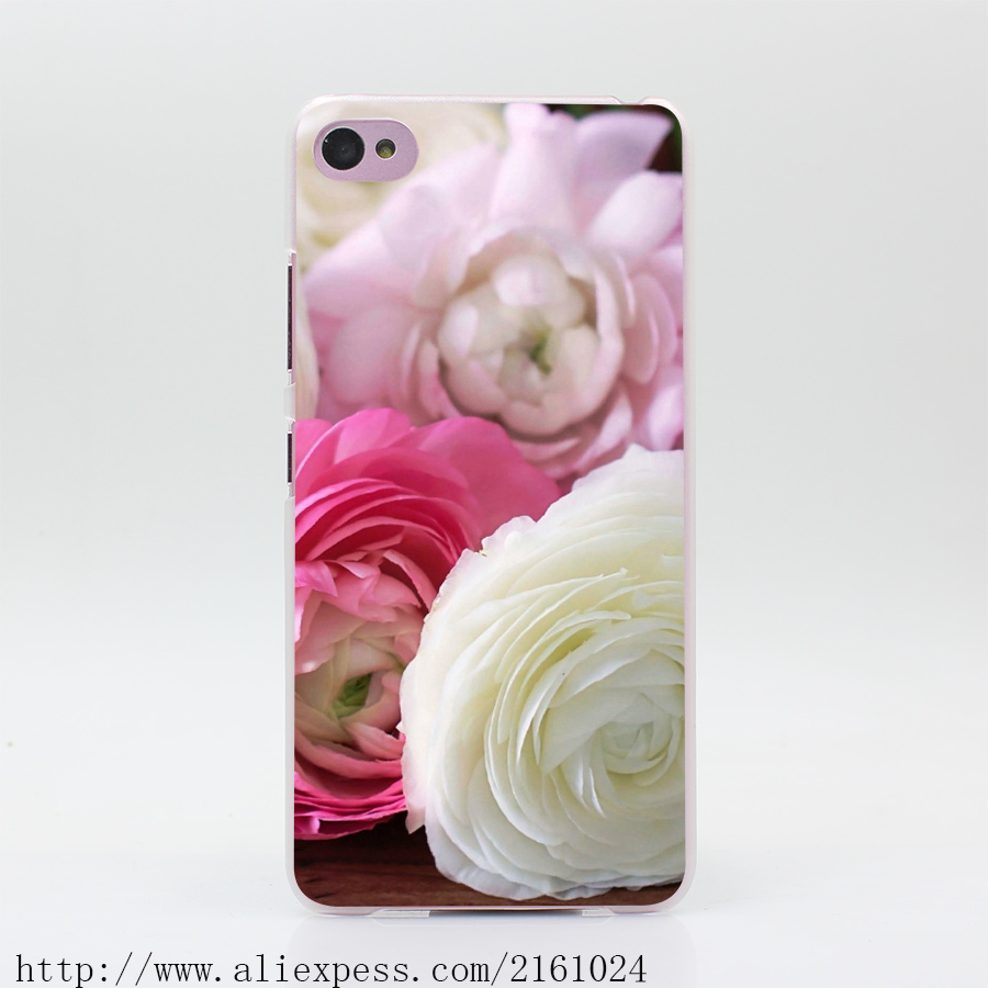 2001U Buttercup Ranunculus Flowers Buds Petals White Pink Hard Case Cover for Lenovo S60 S90 S850 A536 A328(China (Mainland))