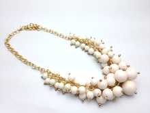 Newest fashion candy color pendant necklace multilayer pearl chain necklace women choker necklace jewelry wholesale 2014