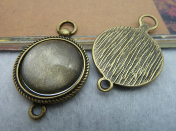 Min order is $15(Mixed order ) 10pieces/LOT 24mmx37mm vintage bronze base charm