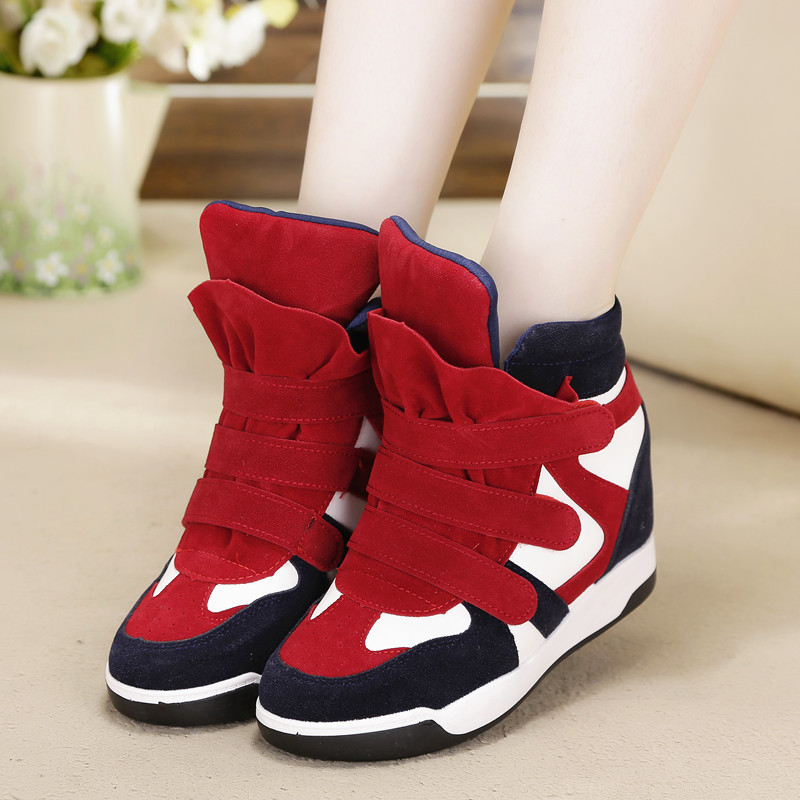 2014 winter shoes high top shoes high warm cotton