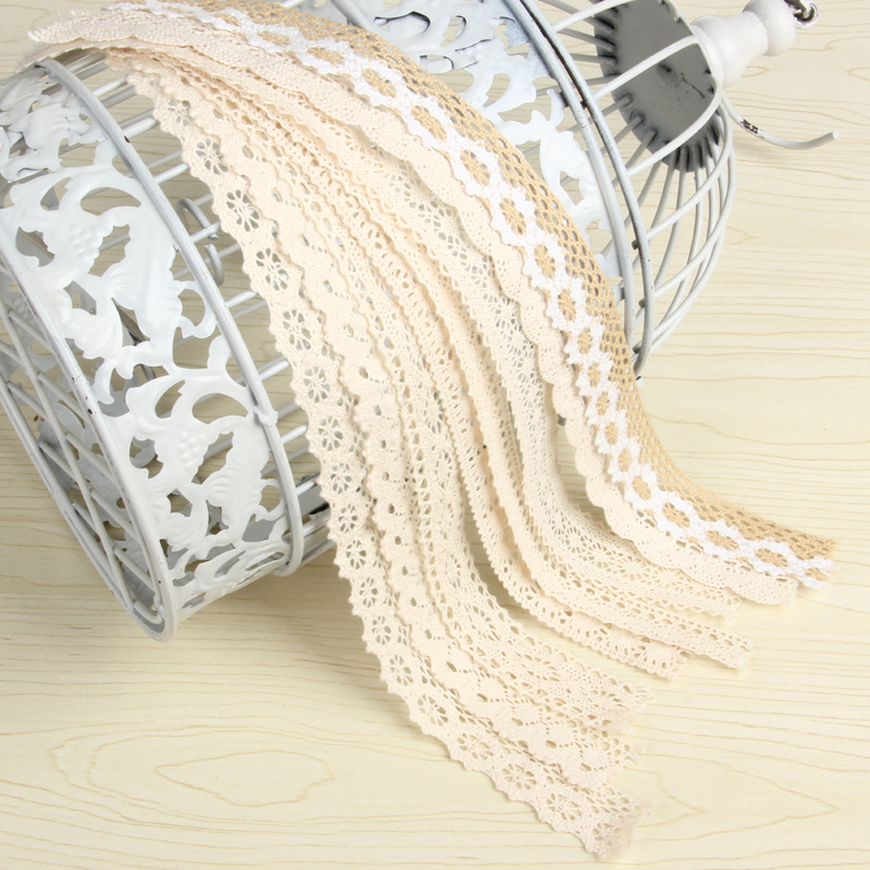 10yard lot Cotton Lace Trim Clothing Decorative Ribbon Home DIY Sewing Wedding Crafts Decoration hand made