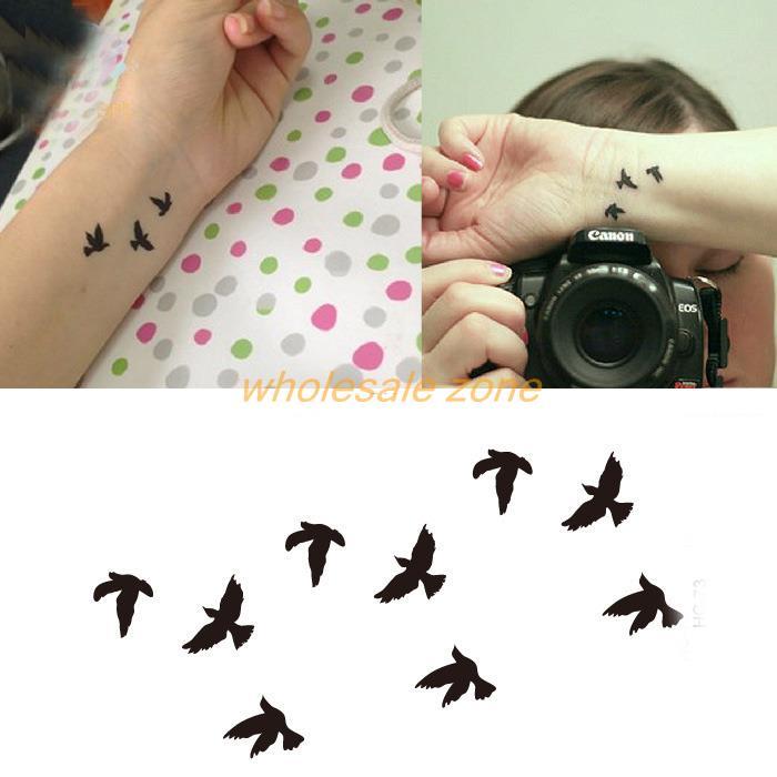 20pcs/lot Trend Of Swallow tattoo sticker Small Drawing sexy Makeup Tide swallows transfer tattoos,Temporary Tattoo(China (Mainland))
