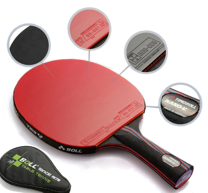 Quality TIMO BOLL table tennis racket pat Hybrid Wood 9.8 table tennis blade Double inverted rubber PINGPONG paddle(China (Mainland))
