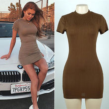 Buy 2017 Women's Sexy Slim Bandage Bodycon Striped Dress Evening Party Slim Fit Pencil Short Mini Dress for $5.81 in AliExpress store