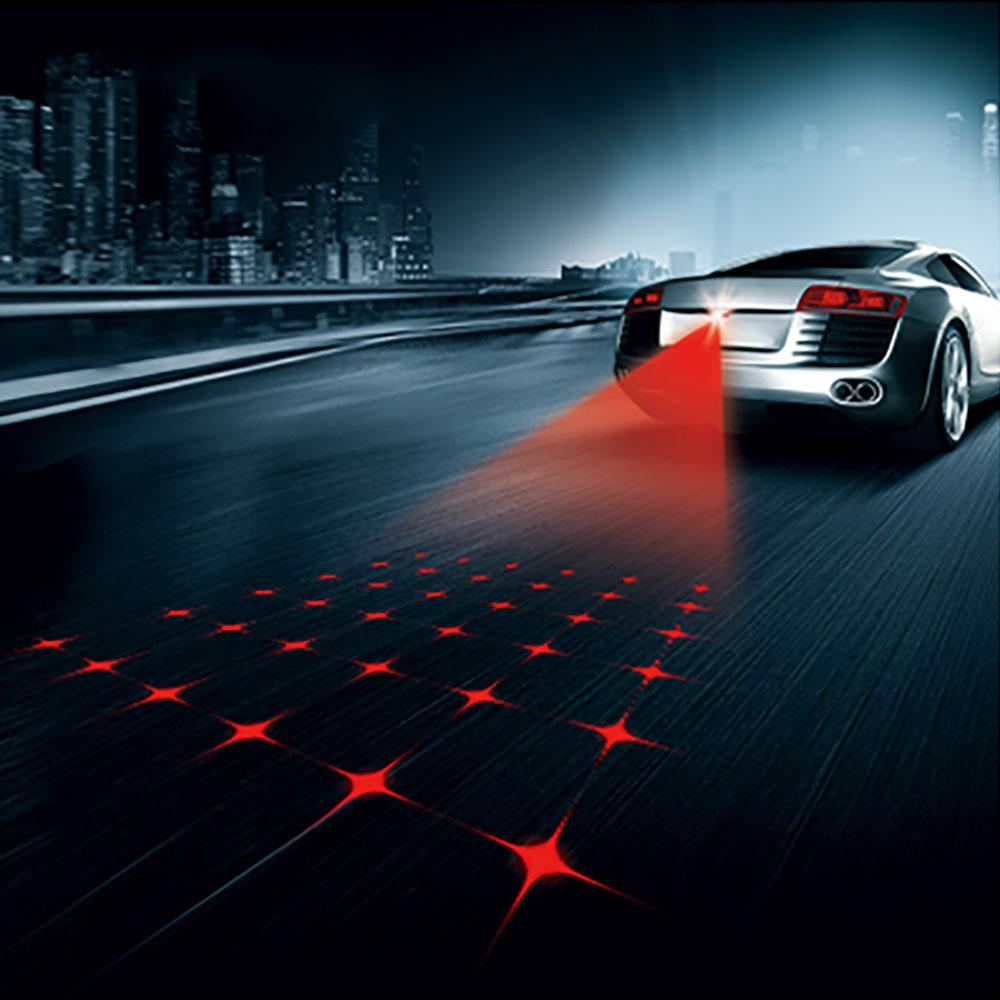 Новые анти-туман предотвращения столкновений сзади - класса автомобилей лазерный хвост 12 В из светодиодов автомобильное дождевые противотуманной фары авто разведение предупреждение проектор