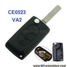 CE0523 MODEL C2 C3 C5 car Flip remote key mid-light 434mhz VA2 profile Citroen - Myremotekey store