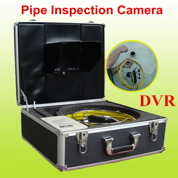 20m fiberglass cable sewer pipe inspection camera ...