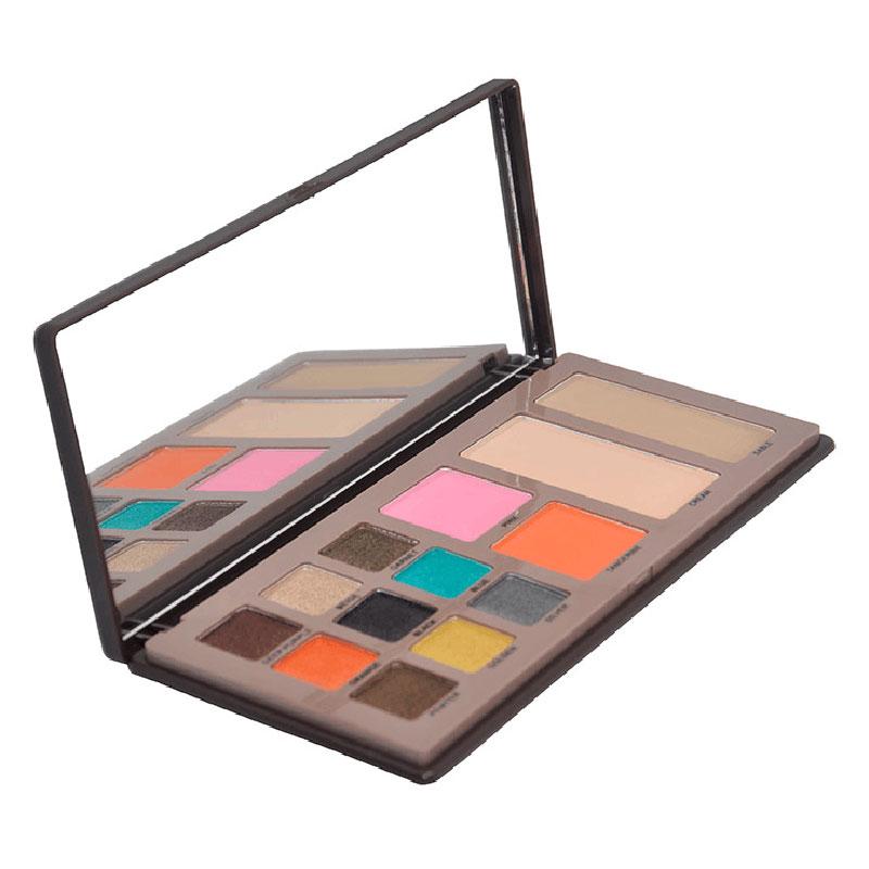 New Eye Shadow Blush Powder Palette Makeup Set Shimmer 9 Colors Eyeshadow+2 Colors Blush+2 Color Powder Foundation Cosmetic(China (Mainland))