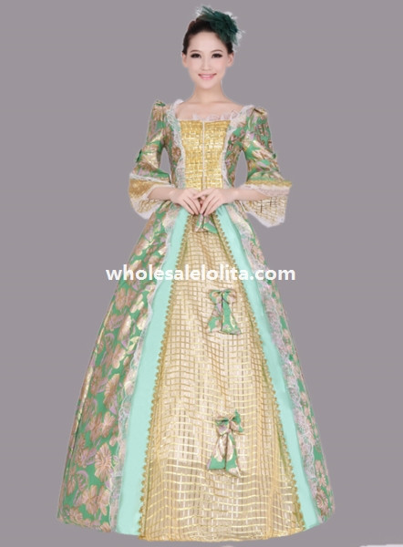 Elegant Historical Rococo Marie Antoinette Period Dress Theatre Clothing