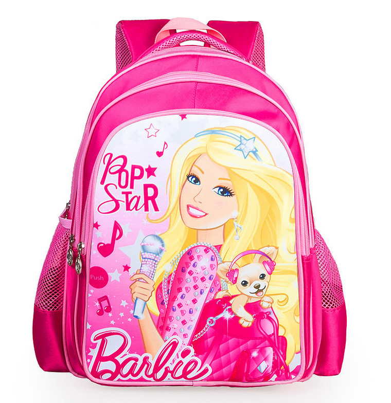 2016 Lovely Cartoon Barbie Princess School Bags For Girls Children Kids Backpack Schoolbag Mochila Infantil(China (Mainland))