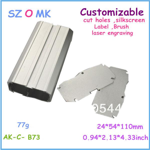 10 pieces a lot Aluminium enclosure design 24*54*110 mm 0.94*2.13*4.33 inch die casting aluminum box(China (Mainland))