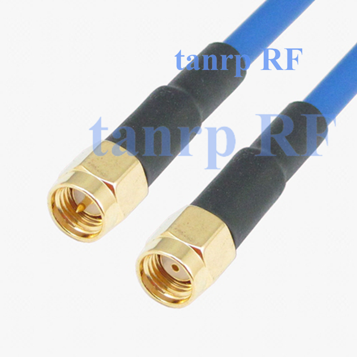 15CM coaxial Flexible blue jacket jumper extension cable RG402 8inch SMA male plug to RP SMA male RF adapter connector<br><br>Aliexpress