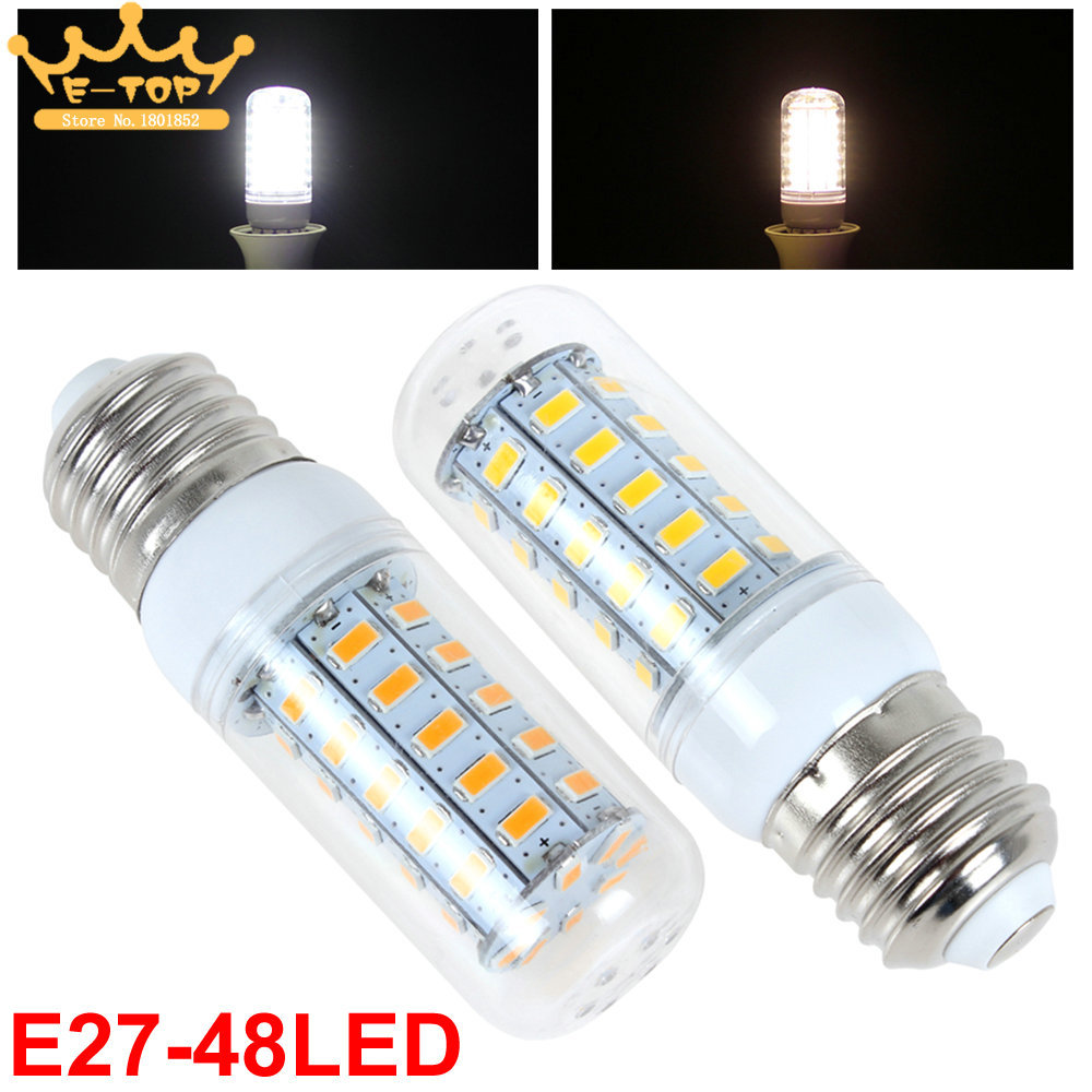 E27 LED Corn Bulb Lamp 15W 220-240V 48 x 5730 SMD LED Corn Bulb Light(China (Mainland))