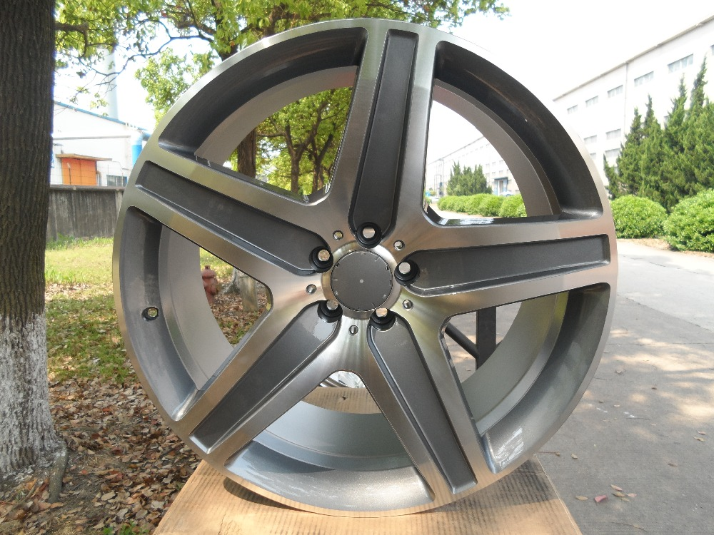 "22"" AMG STYLE Gunmetal RIMS FITS MERCEDES BENZ ML63 GL500 ML550 ML500 GL550 GL450 GL550 W812(China (Mainland))"