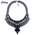 Statement Fashion Women 2016 Gun Black Necklaces Pendant Collier Femme Collar Choker Big ZA Vintage Maxi