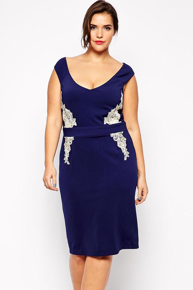 Navy blue summer dress plus size - Dress style